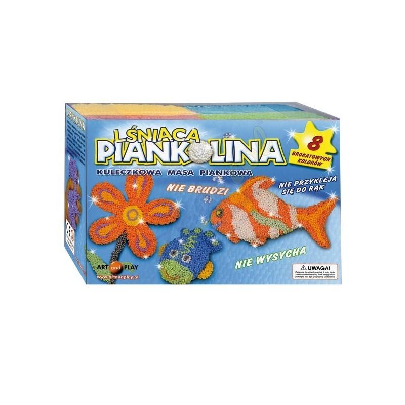 Kuleczkowa masa piankowa - 8 brokatowych-lśniących kolorów
