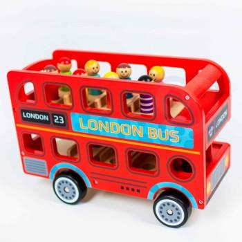Drewniany autobus Londyn