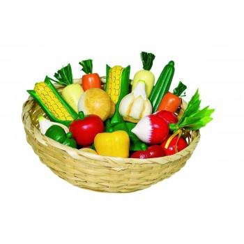 Zestaw warzyw w koszyku