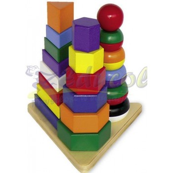 Trzy piramidy kształtów