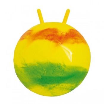 Tęczowa piłka z rogami - 55cm