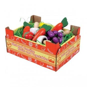 Zestaw warzyw w skrzynce kartonowej