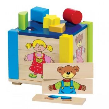 Pudełko do układania i sortowania kształtów