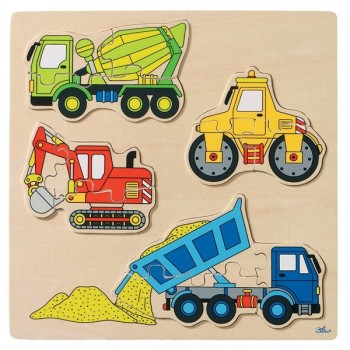 Puzzle - pojazdy budowlane - 12 elem.