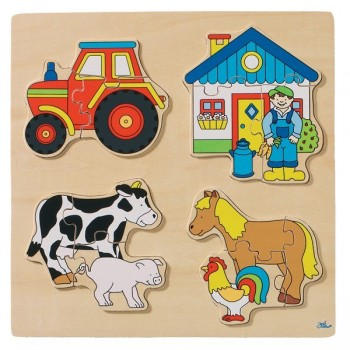 Puzzle - farma - 12 elem.