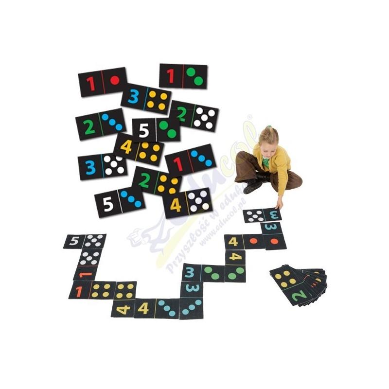 Mega domino cyfry i kolory