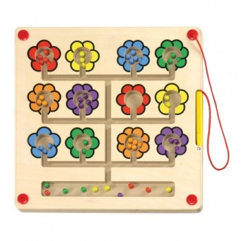 Magnetyczny labirynt z kuleczkami -kwiatki