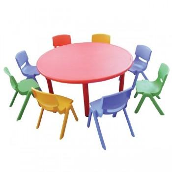 Stoły kolorowe plastikowe - okrągłe - 56 cm