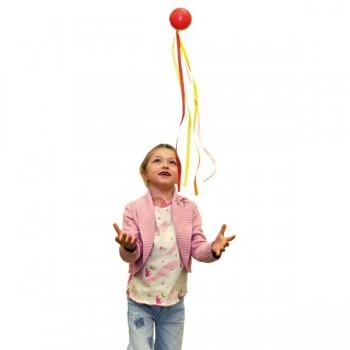 Piłka z tasiemkami - mała 4 cm