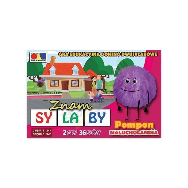 """Gra domino """"Znam sylaby"""" Cz. 5 i 6 - zestaw Pompon"""