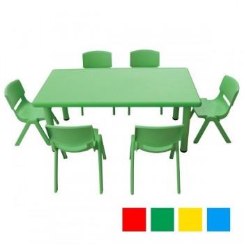 Stoły kolorowe plastikowe - prostokątne - 52 cm