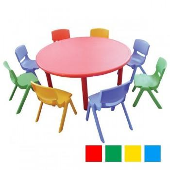 Stoły kolorowe plastikowe - okrągłe - 52 cm