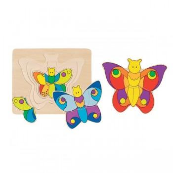 Puzzle 4 - warstwowe Motylek