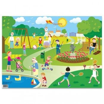 Plansze do opowiadania - W parku