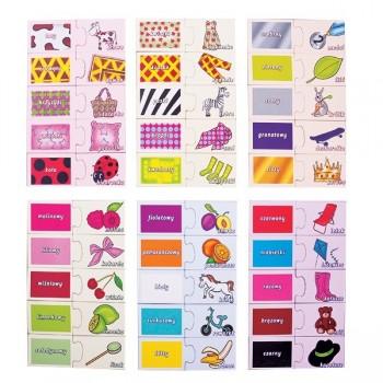 Wzory i kolory - 60 puzzli