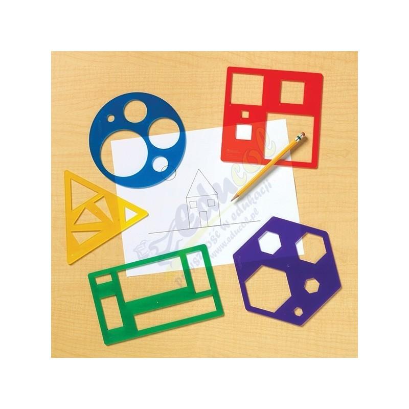 Zestaw szablonów geometrycznych - 5 szt.