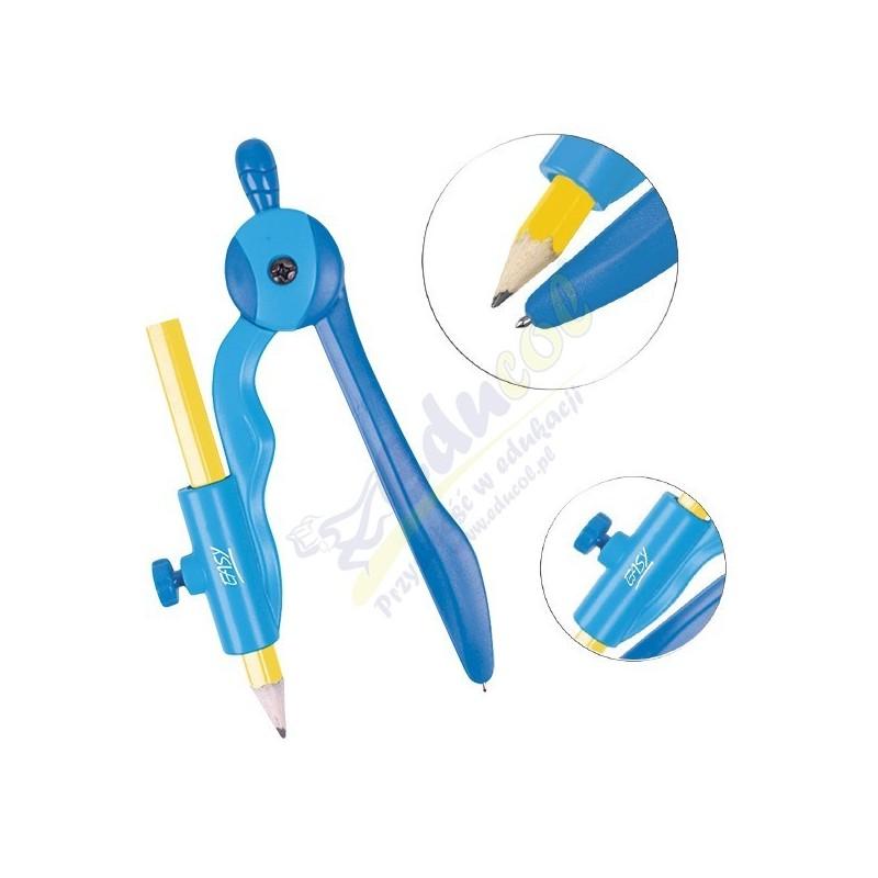 Cyrkiel plasti kowy z ołówkiem
