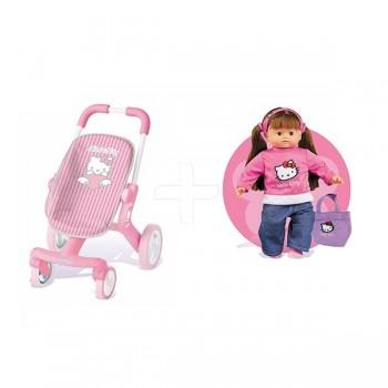 Smoby spacerówka Hello Kitty wózek + lalka Roxanne GRATIS