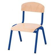 Krzesła na metalowym stelażu